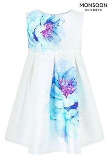 Monsoon Cream Baby Peony Bloom Print Dress