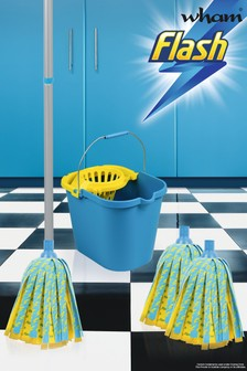 Flash Lightning Mop With 2 Mop Head Refills And Mop Bucket by Wham