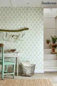 Sanderson Home Lyme Leaf Wallpaper