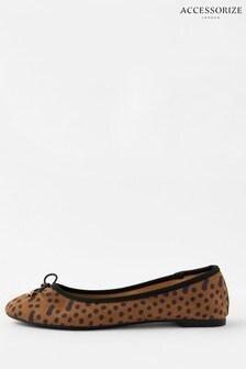 Accessorize Leopard Ballerina Flats