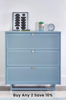 Blue Metal Locker Chest of Drawers