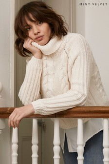 Mint Velvet Cream Chunky Layered Jumper