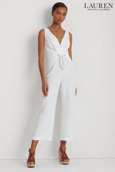 Lauren Ralph Lauren® White Tie Waist Kendryx Jumpsuit