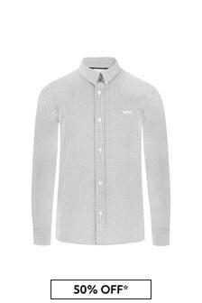 Boss Kidswear Boys White Cotton Shirt
