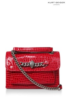 Kurt Geiger London Croc Chelsea Red Day Bag