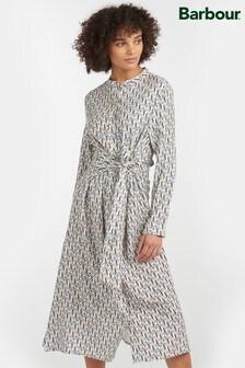 Barbour® Tartan Cream Geometric Print Highlands Midi Dress