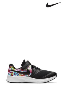 Nike Run Black/Metallic Star Runner Junior Trainers