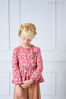Angel & Rocket Pink Animal Print Top