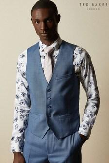 Ted Baker Hectorw Modern Fit Debonair Sharkskin Suit Waistcoat