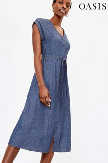 Oasis Blue Denim Shirt Dress