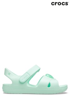 Crocs™ Green Cross Strap Sandals