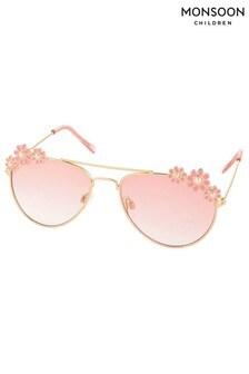 Monsoon Gold Pearl Flower Sunglasses