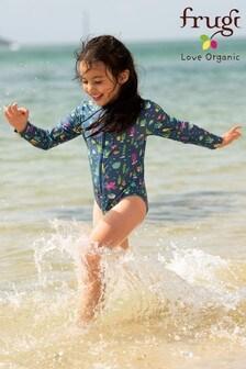 Frugi Oeko Tex UPF 50+ Long Sleeve Zipped Swimsuit