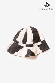 Noé & Zoë Black Striped Sun Hat