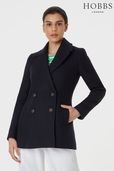 Hobbs Navy Fran Coat