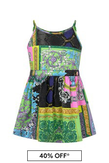 Versace Baby Girls Multi Cotton Dress