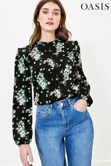 Oasis Dandelion Print Lace Top