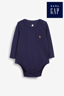 Gap Baby Long Sleeve Pocket Bear Bodysuit