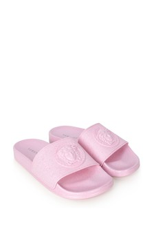 Girls Pink Logo Sliders