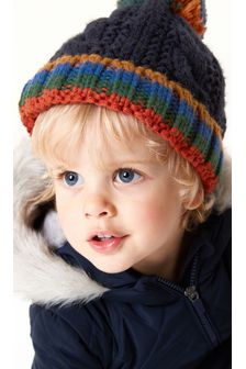 Cable Pom Beanie Hat (3mths-10yrs)