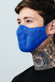 Hype. Adults Blue Knit Face Coverings Three Pack