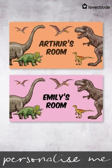 Personalised Dinosaur Door Sign by Loveabode