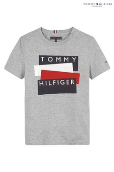 Tommy Hilfiger Grey Flag Sticker T-Shirt