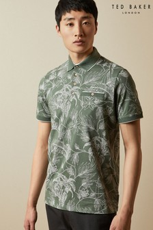 Ted Baker Teeleaf Linear Floral Printed Polo