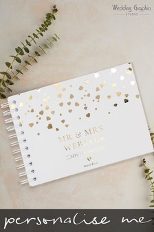 Personalised A4 Confetti Wedding Book by Wedding Graphics