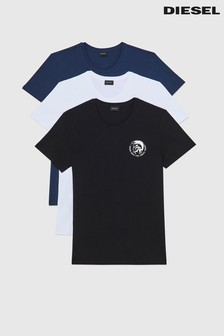 Diesel® White/Blue/Black Mohawk T-Shirts 3 Pack