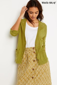 White Stuff Green Anchor Marl Cardigan
