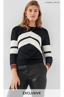 Mix/Madeleine Thompson Chevron Crew Jumper
