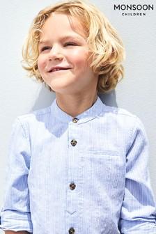 Monsoon Blue Jamie Texture Shirt