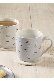 Set of 2 Seagull Mugs