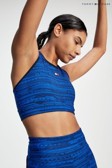 Tommy Hilfiger Blue High Support Printed Sports Bra