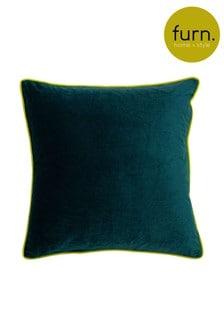 Furn Teal Gemini Double Piped Edge Cushion