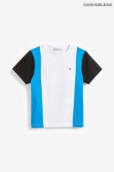 Calvin Klein Jeans White Colourblock T-Shirt