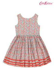 Cath Kidston® Cream Ashbourne Ditsy Charlotte V-Back Dress
