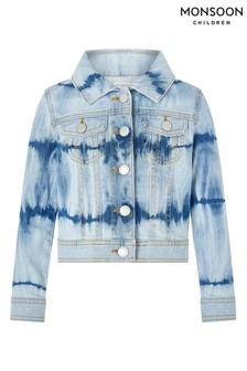 Monsoon Blue Tie Dye Denim Jacket