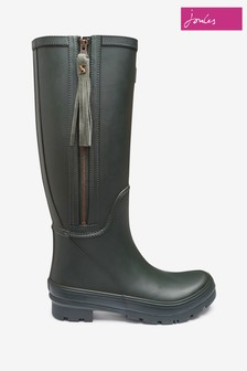 Joules Green Collette Wellies With Interchangeable Tassles