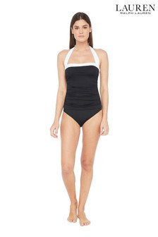 Lauren Ralph Lauren® Bel Aire Shirred Bandeau Mio One Piece Swimsuit