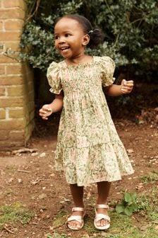 Honeysuckle Shirred Cotton Dress (3mths-7yrs)
