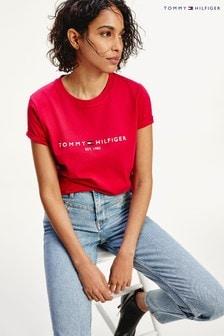 Tommy Hilfiger Pink Essential Logo T-Shirt