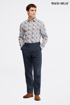 White Stuff Blue Northcote Puppytooth Trousers