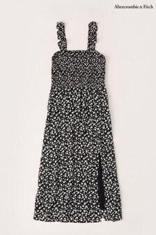 Abercrombie & Fitch Black/White Smock Dress
