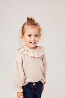 Sparkle Puff Sleeve Collar Top (3mths-7yrs)
