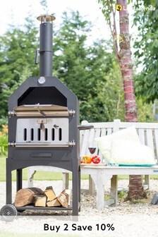 Lorenzo Steel Pizza Oven/Smoker By La Hacienda