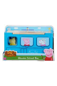 Peppa Pig Peppas Wood Play School Bus Shape Sorter