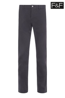 F&F Grey Charcoal Straight Chinos