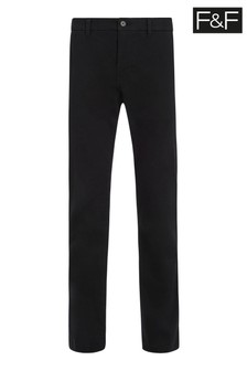 F&F Black Straight Chinos